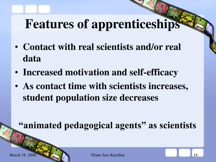 Features of apprenticeships