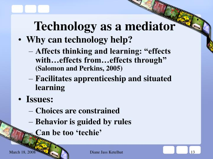 Technology as a mediator