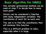 basic algorithm for nmds16