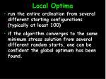 local optima19