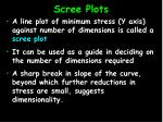 scree plots