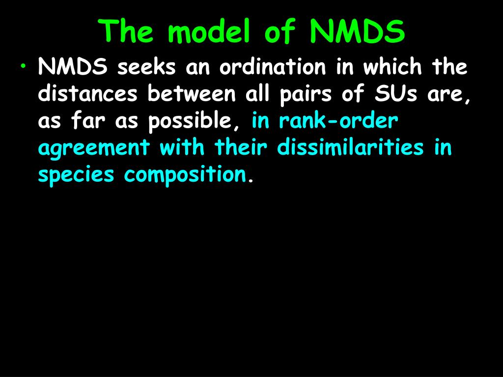 PPT - Nonmetric Multidimensional Scaling (NMDS) PowerPoint