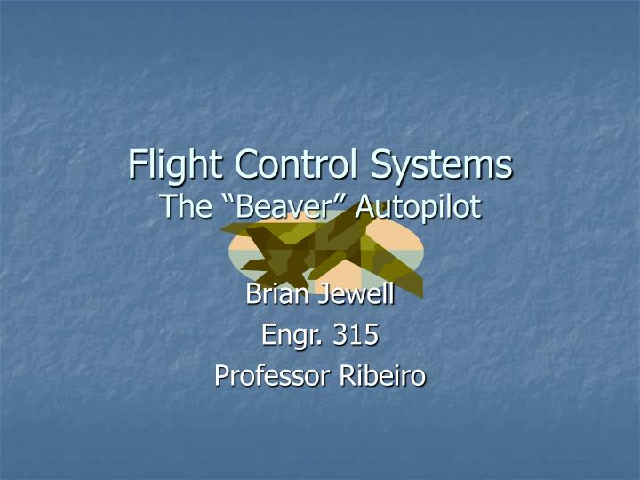 flight control systems the beaver autopilot n.