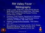rift valley fever bibliography