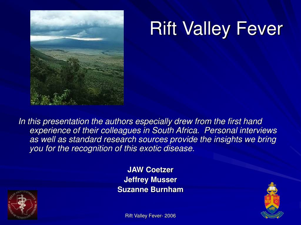 Rift Valley Fever