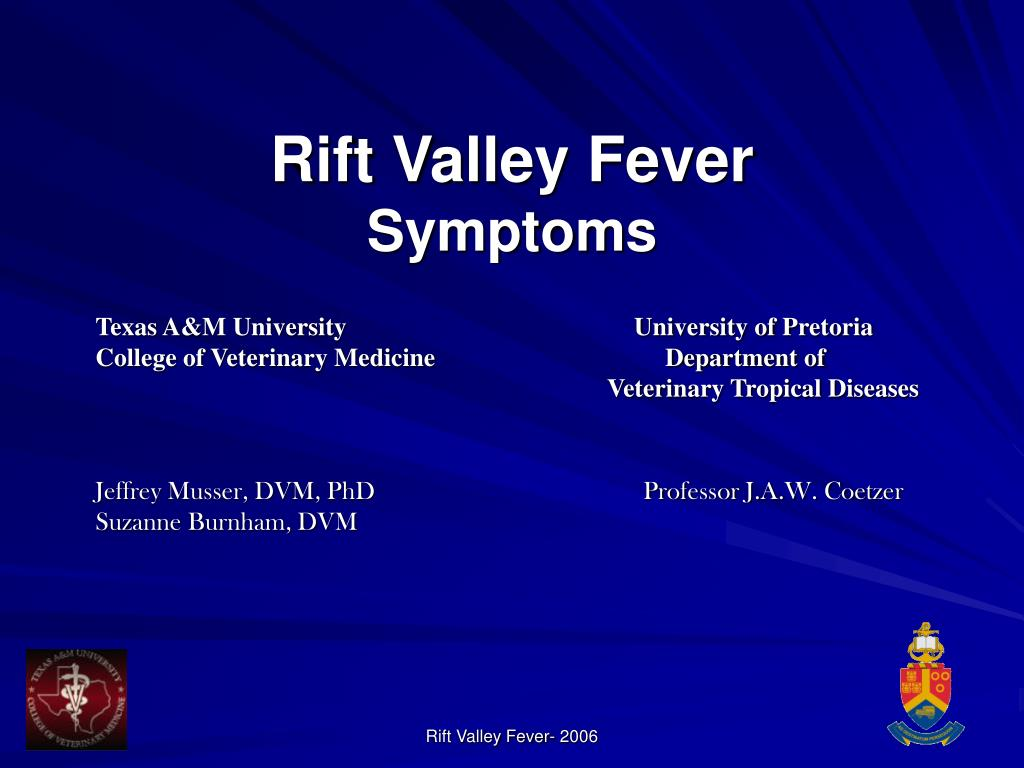 rift valley fever symptoms l.