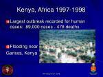 kenya africa 1997 1998