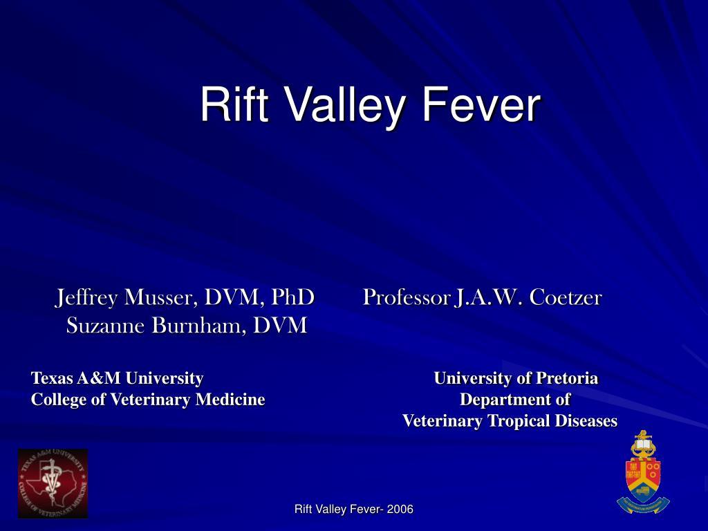 rift valley fever l.