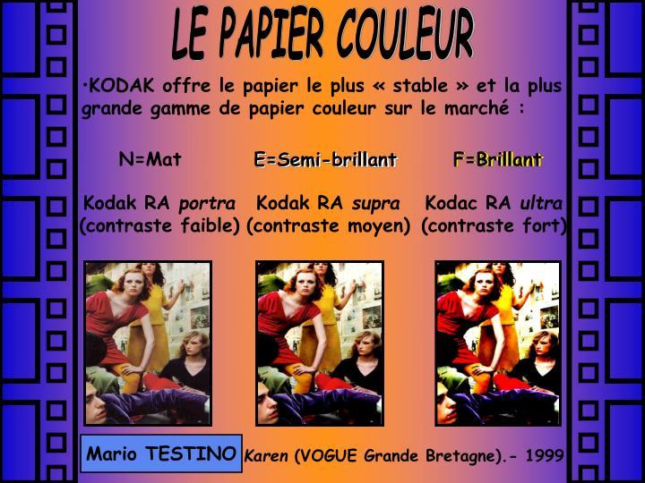 LE PAPIER COULEUR