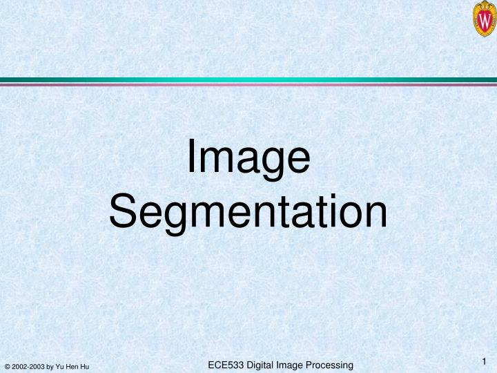image segmentation n.