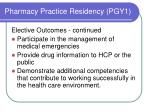 pharmacy practice residency pgy13
