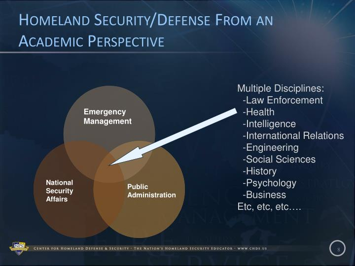Homeland Security/Defense From an Academic Perspective