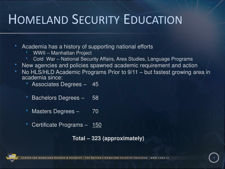Homeland Security Education