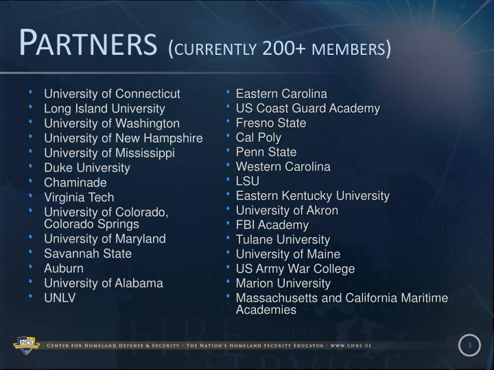 Partners currently 200 members