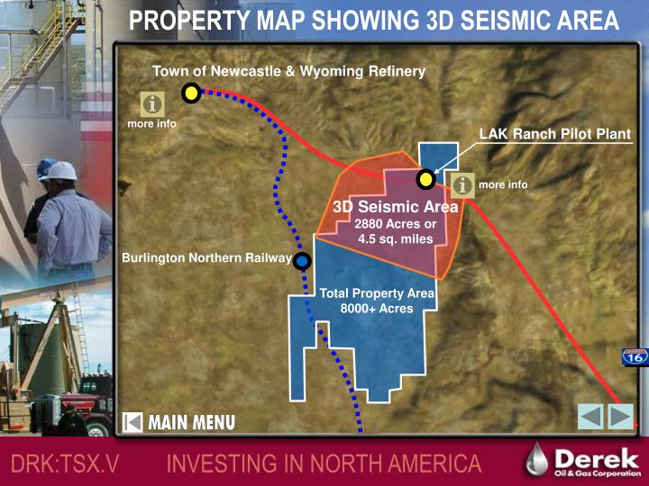 PROPERTY MAP SHOWING 3D SEISMIC AREA