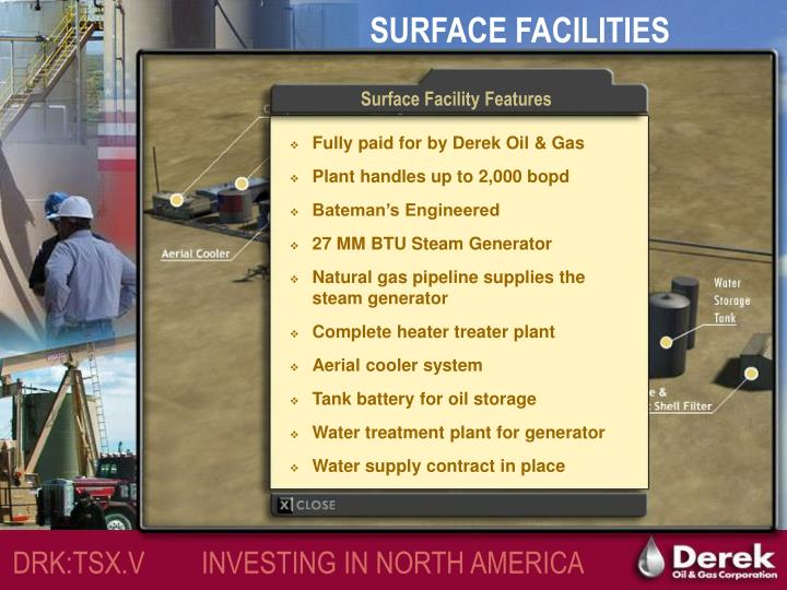 Surface Facility Features