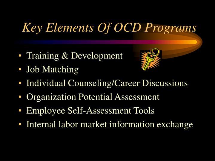 Key Elements Of OCD Programs