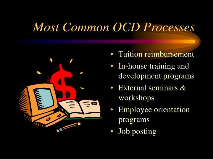 Most Common OCD Processes