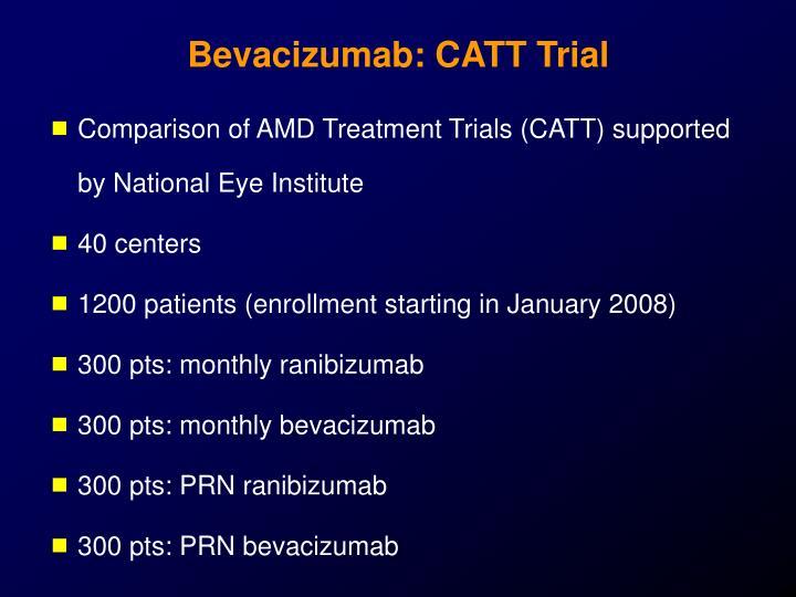 Bevacizumab: CATT Trial