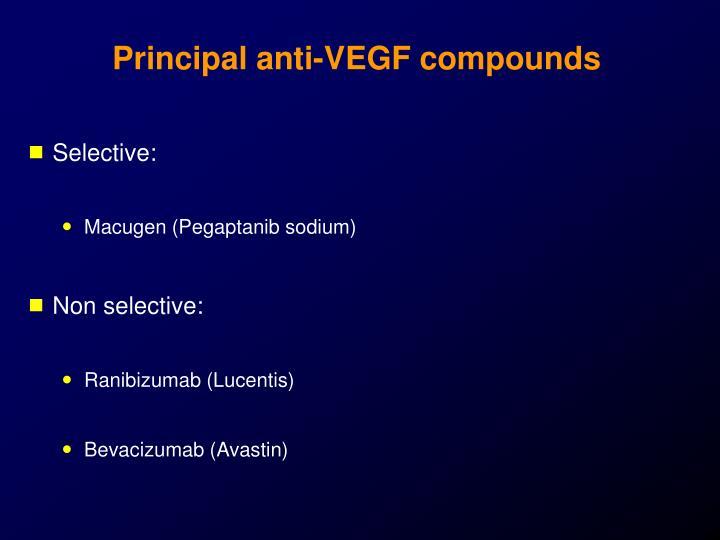 Principal anti-VEGF compounds