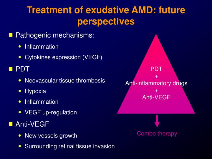 Treatment of exudative AMD: future perspectives