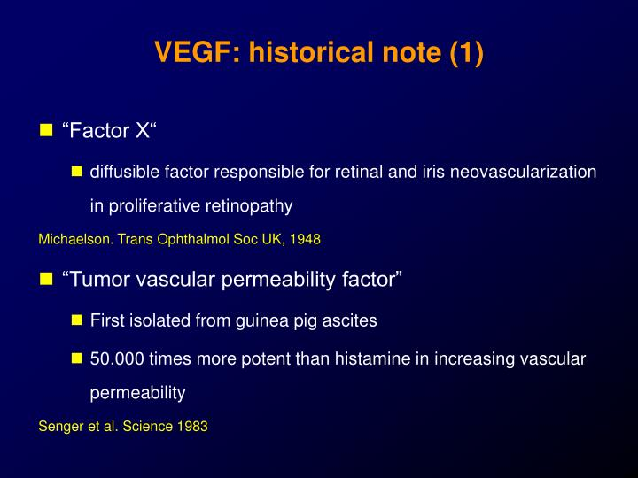 VEGF: historical note (1)