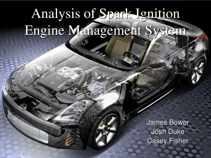 analysis of spark ignition engine management system n.