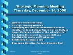 strategic planning meeting thursday december 14 2006
