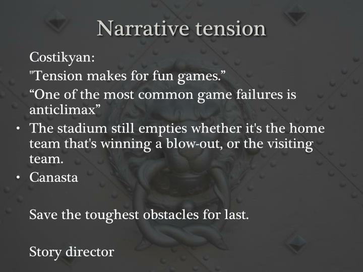 Narrative tension