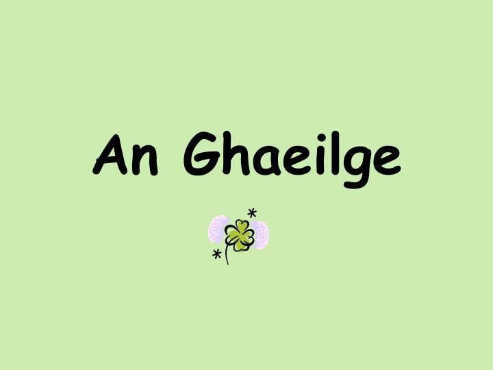 An ghaeilge