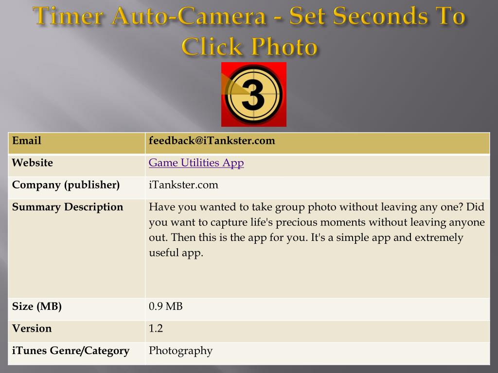 timer auto camera set seconds to click photo l.