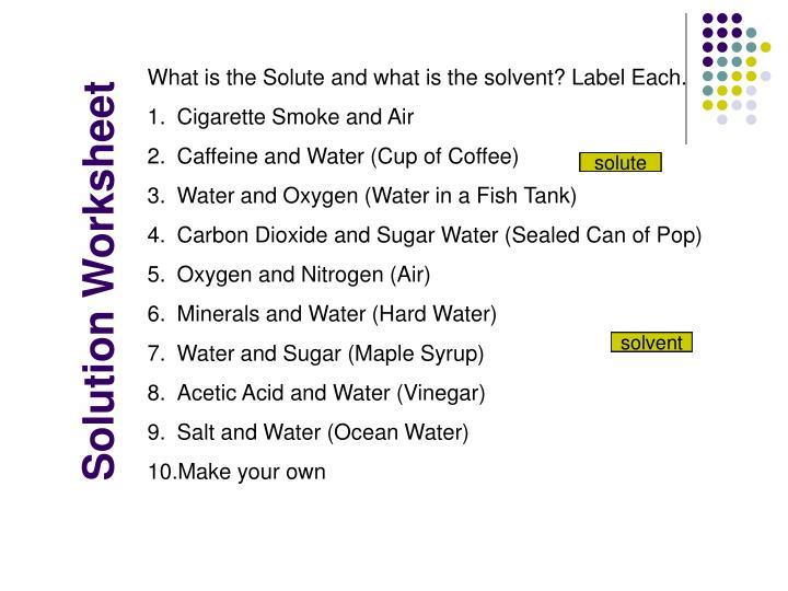 Solution Worksheet