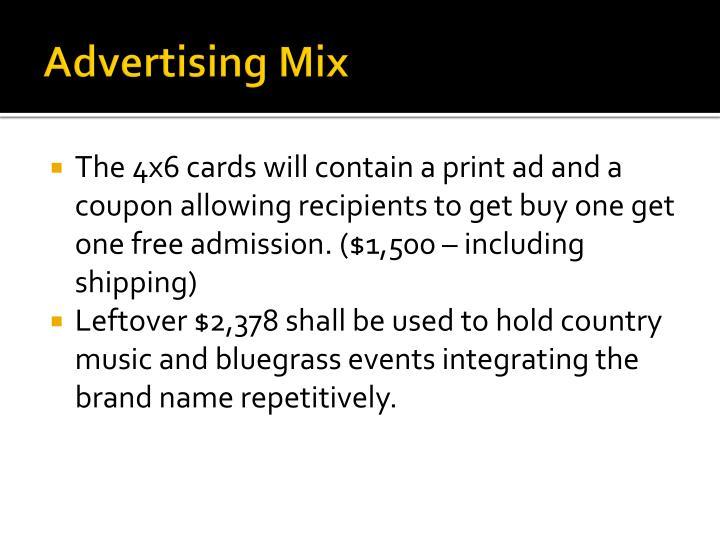Advertising Mix