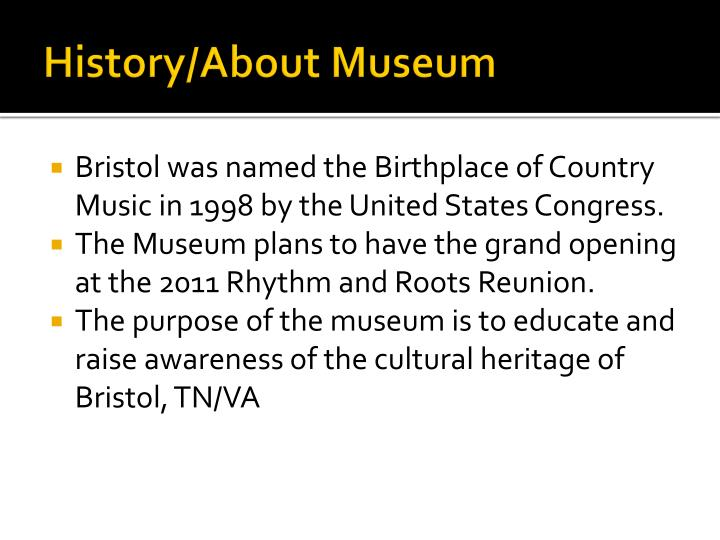 History about museum