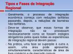 tipos e fases de integra o regional1