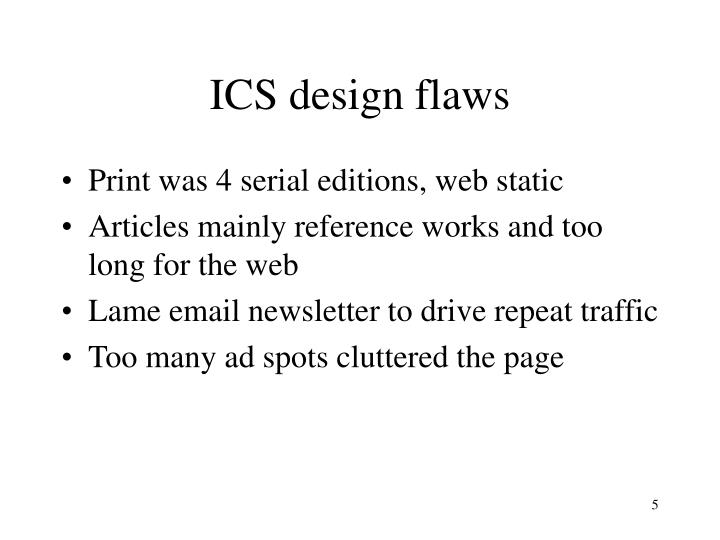 ICS design flaws