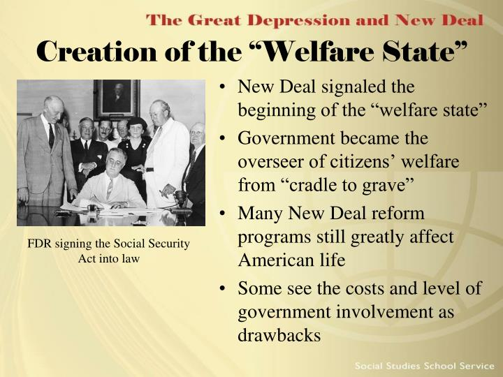 """Creation of the """"Welfare State"""""""