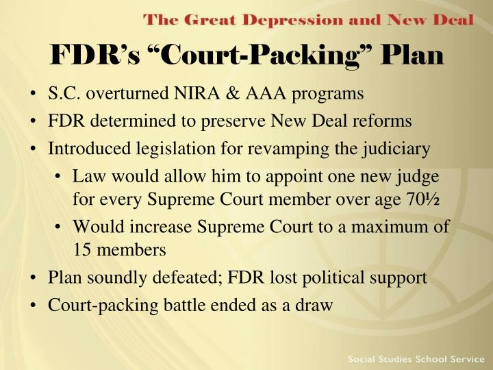 """FDR's """"Court-Packing"""" Plan"""