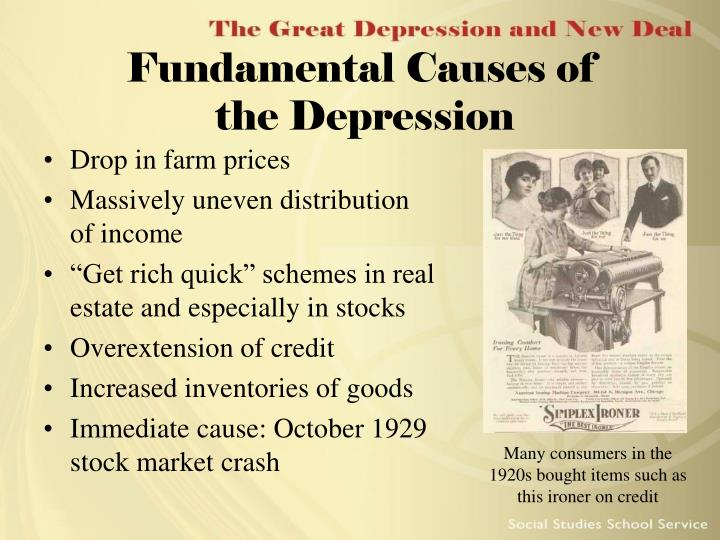 Fundamental causes of the depression