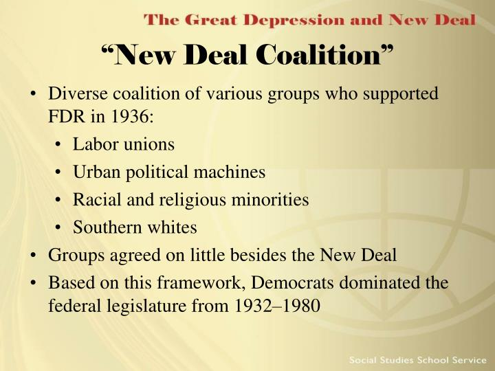 """""""New Deal Coalition"""""""