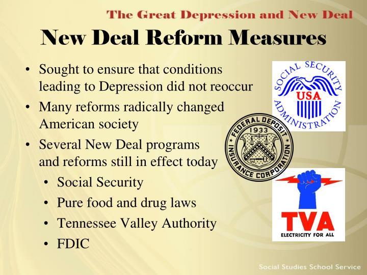 New Deal Reform Measures