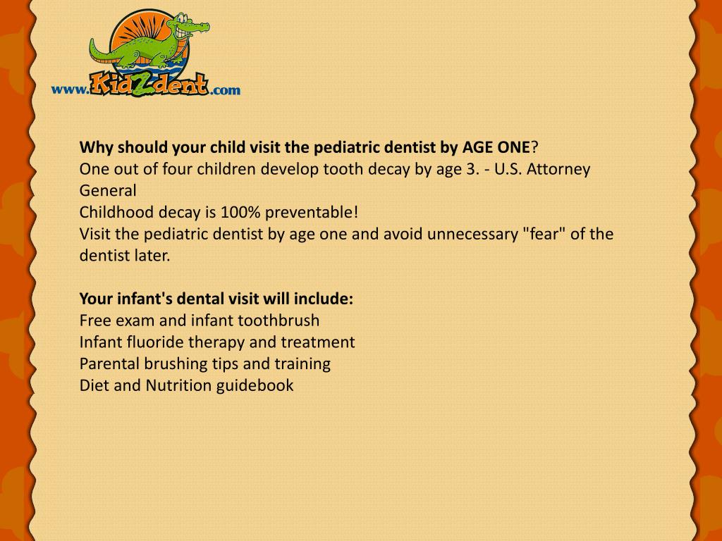 Why should your child visit the pediatric dentist by