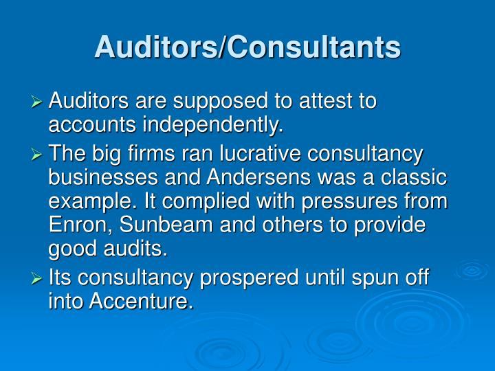 Auditors/Consultants
