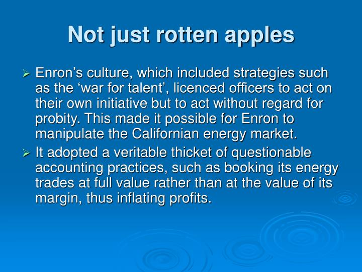 Not just rotten apples