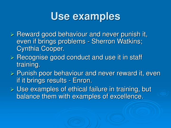 Use examples