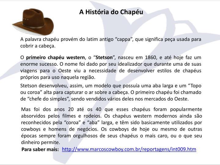 A História do Chapéu