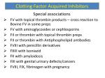 clotting factor acquired inhibitors