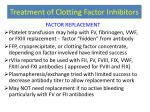 treatment of clotting factor inhibitors