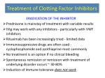 treatment of clotting factor inhibitors1