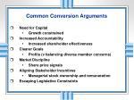 common conversion arguments